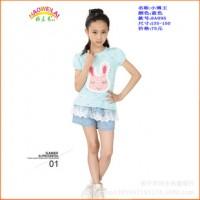 小博王8A095(蓝色)女大童套裙女套裙女大童套装女套装