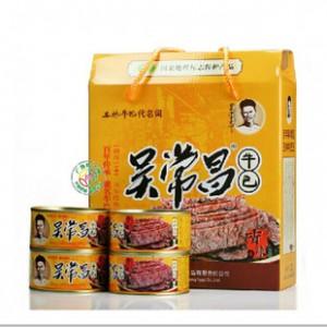 广西玉林特产牛巴干 吴常昌牛巴礼盒 牛肉美食180g*4罐(720g)