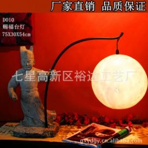 中式古典台灯 古人物家居树脂工艺品
