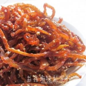 广西北海特产 海清香辣海鲜零食鳗鱼丝 鳝鱼10斤一箱 海味