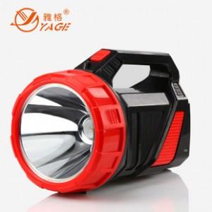 雅格5702 LED5W强光手电筒充电远射手提野营探照灯巡逻专用批发