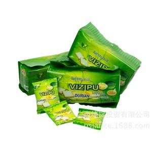 越南进口特产VIZIPU榴莲味面包干 饼干糕点心210g 内有独立小包装