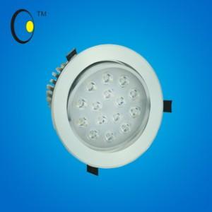 2014新款LED天花灯太阳花散热高档铝系列暖色射灯 5W大功率筒灯