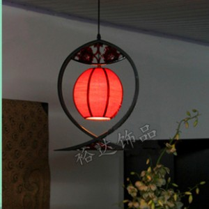 中式新古典渔光曲吊灯 酒店工程背景