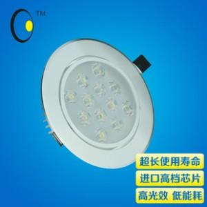 2014新款COB天花灯刀片散热高档铝系列暖色射灯 15W大功率筒灯