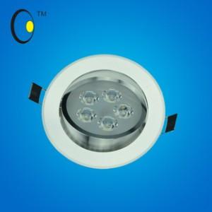 2014新款COB天花灯刀片散热高档铝系列暖色射灯 3W大功率筒灯批发