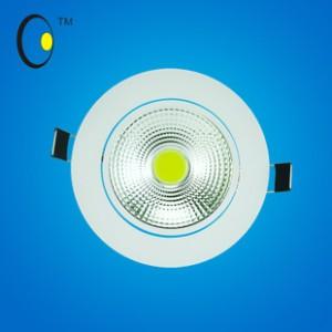 2014新款COB天花灯暖色射灯 5.5寸常规COB筒灯15W大功率批发