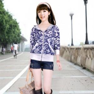 批发2014年服装女装外套时尚印花韩版新款女式上衣厂家直销超低价