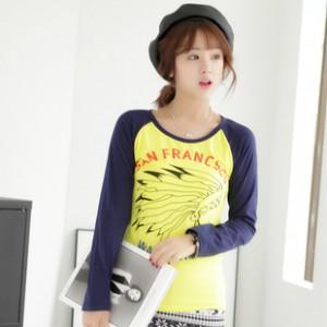2014韩版女装长袖T恤打底衫 秋冬装纯棉修身长袖T恤女 一件代发