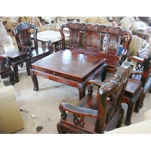红木家具 红酸枝战国象头沙发 红木沙发