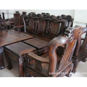 老料红酸枝 老挝大红酸枝沙发 越南红木家具价格 客厅家具