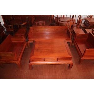 缅甸草花梨  红木家具 光板沙发6件套  红木沙发