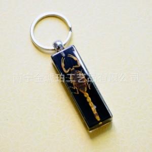 昆虫琥珀钥匙扣 汽车内饰用品批发 钥匙配饰 广西第一货源 可混批