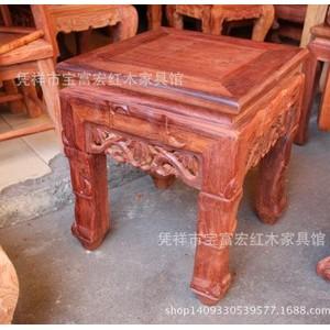 批发零售越南红木家具 缅甸花梨小方凳 大果紫檀矮凳 红木方櫈