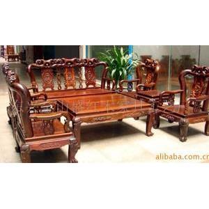 供应红木家具-玫瑰沙发7(可以定做)